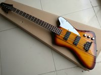 Wholesale One Piece Basses - 2016 New 4 Strings Bass mahogany Body one-piece set neck bass Electric Bass Guitar Vintage Sunburst Free Shipping