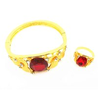Wholesale Exotic Fashion Rings - The new fashion imitation gold-plated tin alloy exotic style of rose red bracelet or ring for women
