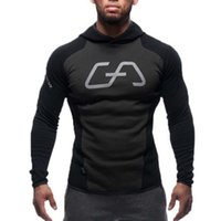 Al por mayor-Mens Bodybuilding Hoodies Gym Brand-clothing Workout Shirts Trajes de deporte con capucha Chándal Hombre Chandal Hombre Gorila wear Animal