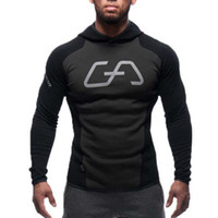 Wholesale Animal Sports Wear - Wholesale-Mens Bodybuilding Hoodies Gym Brand-clothing Workout Shirts Hooded Sport Suits Tracksuit Men Chandal Hombre Gorilla wear Animal
