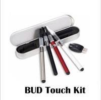 алюминиевая ручка оптовых-Bud Touch Kit CE3 o Pen 280mah испаритель воск Pen E-сигареты 510 и сухой травы испаритель комплекты с USB зарядное устройство алюминиевая коробка