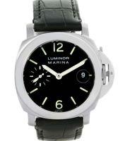 Wholesale Marina Black - Luxury Top Quality Marina Automatic Mechanical 40mm Watch PAM048 PAM00048 Black Leather Band Men's Wristwatches