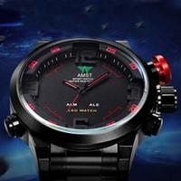 Wholesale Sports Diving Wrist Watch - Hot Sport watches men luxury brand AMST dive LED watches sport Military Watch Genuine stainless steel quartz watch men wrist watches
