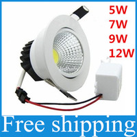 Wholesale Dimmable Led Downlight Housing - LED COB Downlight 5w 7w 9w 12w 15w 21w dimmable down lights housing led ceiling lamp recessed lighting AC85V-265V CE ROHS