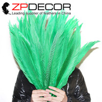 Wholesale 35 Inch Pheasant Feathers - Leading Supplier ZPDECOR Hand Sorting 35-40cm(14-16 inch) Dyed Green Cheap Silver Pheasant Feathers Bulk Sale
