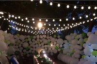 luces de hadas led conectables al por mayor-La novedad de Halloween 20 LED G45 Globo Conectable Fiesta Festonera Bola luces de cadena led Luces de Navidad de hadas boda jardín colgante guirnalda