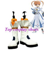 Costume Accessories black lyrical costumes - Freeshipping anime Magical Girl Lyrical Nanoha Takamachi Nanoha Battle Mode Version Cosplay Boots shoes for Halloween Christmas