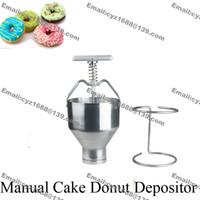 Wholesale Commercial Dispenser - Free Shipping Commercial Use Home Manual Doughnut Donut Depositor Medu Vada Dropper Plunger Dough Batter Dispenser Hopper