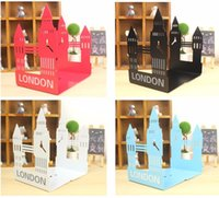 1 Paar London Big Ben Artmetall bookend Cartoon Große Vintage-Mode Desktop-Bücherregal
