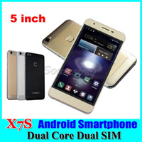 X7S 5 Zoll Mobiltelefone Android 5.1 MTK6572 Dual Core 3G entriegelte Dual SIM 512MB 4GB Smartphones 540 * 960 Wifi Geste Retail Paket