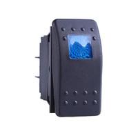 interruptores marinhos 12v venda por atacado-5 Pcs 12 V 20A Botão Interruptor ON OFF 4 Pin Azul DIODO EMISSOR de Luz Do Carro Universal Auto Marine Boat Rocker Switch 4 P ON-OFF