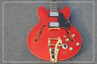 Wholesale New Arrival Jazz Guitar - 2017 new arrival Brand New Jazz 355 model Electric Guitar Aged Wine in Top Quality free shipping