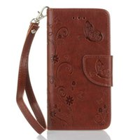 Wholesale Galaxy Lite - Strap Butterfly Wallet Leather Pouch Case For Huawei P9 LITE OnePlus 3 Samsung Galaxy S7 EDGE J5 J310 A310 A510 2016 A3 A5 Card Stand Cover