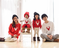 2018 Weihnachten Kleidung passende Familie Outfits Familie Look Alikes Mom Dad Baby Langarm Baumwolle T Shirts Weihnachten Hirsch Familie Kleidung