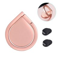 Wholesale Gold Ring Pops - Newly Water Drop Pop 360 Degree Finger Ring Grip Metal Mount Mobile Phone Stand Holder Socket Rose Gold with Ring Hook for iPhone