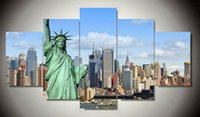 Hot Sales Wholesale Frame art 5 Panels Photo New York City HD Impression sur toile Peinture Oeuvre d'art Peinture en toile F / 1389