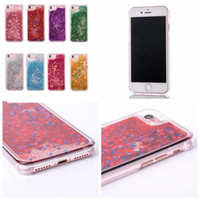 Wholesale Pastel Cases - Sparkle Liquid Bling Hard Plastic Case For Iphone 7 4.7 Plus 5.5 Star Pastel PC Dynamic Quicksand Clear Floating Magical Glitter Skin Covers