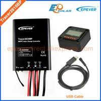 Wholesale Solar Regulator Remote - Tracer2610BP+MT50 remote meter solar power bank charging regulator MPPT USB PC cable for 12v 130w 24v 260w panel use 10A 10amp
