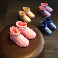 Wholesale Cheap Winter Snow Waterproof Boots - baby Snow Boots Cheap Kids Shoes Unisex Boots Warm Stable Winter waterproof bootie Shoes 4 colors C1591