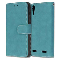 Wholesale Silicone Vibe - Matte Retro Wallet Leather Case For Lenovo A6000 A1000 A2010 Angus2 A5000 A7010 A7000 VIBE P1 X2 X3 Frosted Cards Stand Phone Cover 150pcs