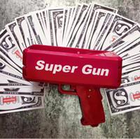 ingrosso giocattoli bambini-Cash Cannon Money Gun Super Money Gun Giocattolo di moda Make it Rain Money Gun Rosso Regalo di Natale Giocattoli Pistola Bambini Posa Gif cool