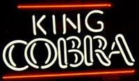 "Wholesale Real Cobra - King Cobra Beer Neon Sign Store KTV Club Pub Disco Sport Bar Motel Display Custom Handmade Real Glass Neon Signs 17""X10"""