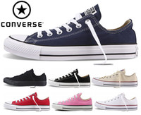 Wholesale buckle brand shoes - 2018 Converse Chuck Tay Lor All Star Shoes For Men Women Brand Converses Sneakers Casual Low Top Classic Skateboarding Canvas Free Ship