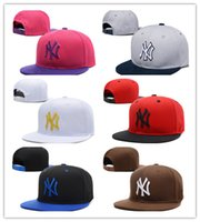 Wholesale Ny Yellow - Wholesale new brand ny Long brim Baseball cap LA dodge hat classic Sun hat spring and summer casual fashion outdoor sports baseball cap
