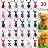 Wholesale Dog Apparel Fashion - 10 Pieces 30colors dog tie Pet fashion Clothing apparel accessories Puppy ties dogs Beauty products wholesale