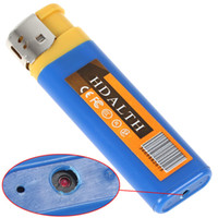 Wholesale Mini Pinhole Color Camera - Lighter Camera Mini USB Spy Lighter Hidden Camera Pinhole Cam DV Lighter Blue Yellow Color
