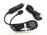 Wholesale 12v Usb Cord - 12V Car Power Charger Adapter + USB PC Cord For Garmin GPS StreetPilot C550 C580