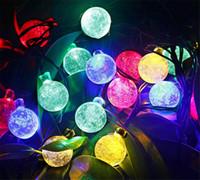kabarcık ledler toptan satış-Güneş Enerjili Noel Lamba Dize Işık 6 M 30 LEDs Kabarcık Topu Peri Işıkları Lamba Noel Festivali Dekorları Yeni Yıl bahçe Süslemeleri