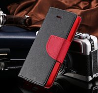 Wholesale S3 Flip Case Retail - Quality PU Leather Stand Case Card Slot flip cover For iPhone 4 5 6 6Plus Samsung Galaxy S3 S4 S5 S6 Note2 3 4 + Retail Package 1pc