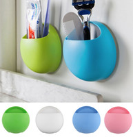 Wholesale Cup Holder Design - Cute Eggs Design Toothbrush Holder Suction Hooks Cups Organizer Bathroom Accessories Toothbrush Holder Cup Wall Mount Sucker