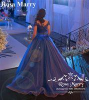 ingrosso vestido regale debutante-Royal Blue Ball Gown Cenerentola Abiti Quinceanera 2020 Vintage Lace Sweet 16 Vestido 15 Anos Tulle Girls Masquerade Debutante Abiti da ballo