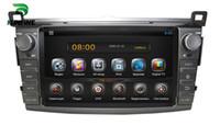 car stereo for rav4 NZ - Car DVD GPS Navigation Player for Toyota RAV4 2013 Radio Bluetooth 3G Wifi steering wheel control Quad Core 1024*600 Screen Android 5.1