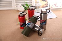 Wholesale Thermos Vacuum Pot - New stainless steel vacuum space pot  double stainless steel thermos pot  outdoor sports portable large capacity water cup