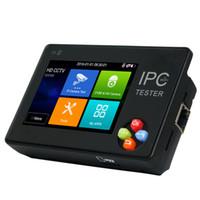 Wholesale cctv monitor tester ptz - New 3.5 Inch IP CCTV Tester Monitor IP Analog Camera Testing H.265 4k ONVIF PTZ WIFI 12V1A output