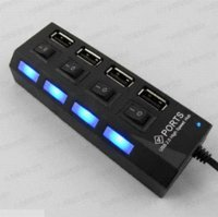 Wholesale Usb Off - 4 Port USB 2.0 High Speed HUB ON OFF Sharing Switch USB Port micro usb hub For Laptop PC AY088-SZ