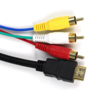 av kabel für xbox großhandel-5FT 1.5M HDMI zu 3 RCA Video AV TV Composite Adapter Konverter 3 RCA RGB Kabel für XBOX 360 für PS3 4 HDTV 1080