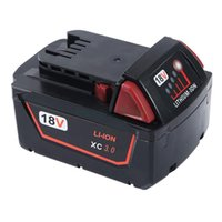 Wholesale Milwaukee 48 - 3.0Ah 18V Replacement Battery M18 for 18V Milwaukee Red Lithium XC Battery M18 M18B 48-11-2440 48-11-1840 48-11-1828 48-11-1820 48-11-1815