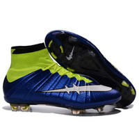 Wholesale Girls Youth Boots - 2017 Breathable Kids soccer shoes Mercurial Superfly CR7 FG TF for Boys and Girls Cristiano Ronaldo Youth Women Turf Football Boots