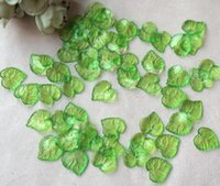 Wholesale Leaf Shaped Beads - 1800pcs 16mm Beautiful Transparent Acrylic Green Leaf Beads Bead With Hole For Hair Peice Tiaras Jewelry Scrapbooking Craft DIY