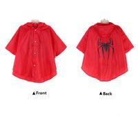 Wholesale Raincoat Spiderman - NEW Kids Superhero Raincoat Super Hero Batman Spiderman Supergirl Batgirl Spidergirl Kids RainCoat Children Cartoon Rainwear DHL 30PCS