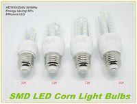 Wholesale 3w E27 Smd3528 - 9W 7W 5W 3W LED Corn Lights High Quality E27 E14 U-Shape LED Corn Bulbs Light SMD3528 LED Corn Lamp for Indoor Lighting