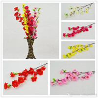 Wholesale display mirrors - Wholesale 60CM 24inch Artificial Branches Of Peach Cherry Blossom Silk Flowers Home Wedding Decoration Flower