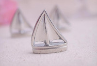 Wholesale Sail Boat Place Cards - Wedding Party Gifts Party Favors Sailing boat Place Card Holders Beach Wedding Favor 20pcs lot Free Shipping