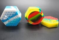 buharlaştırıcı kavanoz toptan satış-1 adet Silikon yapışmaz Kavanozlar Dab Konteyner Bal Arısı Silikon Vaporizer Için Yağ Katı 26 ML FDA Gıda Sınıfı Silikon Kutu Balmumu Konteyner