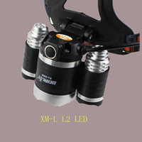 lúmen super brilhante lanterna led venda por atacado-Farol Boruit 8000 Lumen Super Brilhante 3X CREE XML L2 LEVOU Cabeça Tocha Lanterna USB Lâmpada Farol