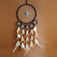 Wholesale India Wholesale Goods - 100% Good feedback Dreamcatcher Wall Hanging Decoration Bead Ornament with Feathers 6 Circles,,traumfanger, attraDreamcatcher Handmade Gifts
